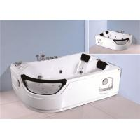 Jacuzzi Bubble Bath Jetted Corner Whirlpool Bathtub With Shelf 1800*1230*680mm