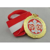 Buy cheap Iron / Brass / Copper Soft Ribbon Medals with Die Struck, Stamped, Die Cast product