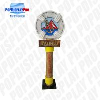 Buy cheap Large Pole Visual Personalized Shelf Display Stand Life Post Full Color Printed With Metal Base for Pacifico Draft Beer product