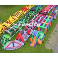 Buy cheap En14960 Outdoor Popular Adults Inflatable 5k Obstacle Course For Running Race from wholesalers