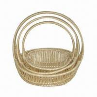 Buy cheap Fruit basket, 100% handmade, wicker material, 3pcs/set, beauty and fashionable, suitable for gifts product