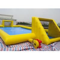 Buy cheap Inflatable Soccer Game / football Field Sports Equipment With 0.45mm - 0.55mm PVC Tarpaulin product