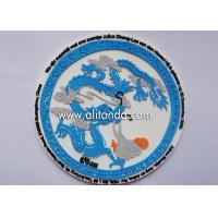 Buy cheap China style ethnic style traditional cultural style design soft pvc silicone rubber plastic coaster custom product