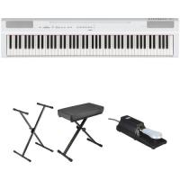Buy cheap P-125 Digital Piano with GHS Action Yamaha P-125 88-Note Digital Piano and Essentials Kit (White) product
