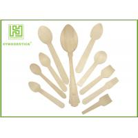 Buy cheap Healthy Disposable Wooden Cutlery Dinner Ice Cream Spoons In Different Shapes product