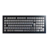 Buy cheap Industrial Koisk Metal Mechanical Keyboard Black IP67 Rated Washable Top Mounted product