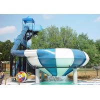 China Large Space Bowl Water Slide / Water Park Slide For Water Park Games on sale