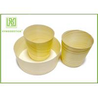 Buy cheap Eco-friendly Disposable Wooden Round Cup for Food with Different Size product