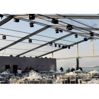 Buy cheap Weather Proof Large Clear Span Tent Fast To Install / Dismantle Transparent Wedding Tent product