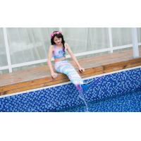 Buy cheap Colorful Unicorn Mermaid Tails For Swimming With Flower Monofin Fade - Resistant product