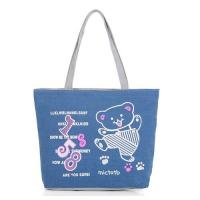 Screen Printed Carrier Bags/ Custom Canvas Bags With Two Soulder Straps