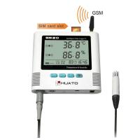 China SMS alarm Temperature Humidity GSM Data Logger with External Sensor HUATO S520-EX-GSM on sale