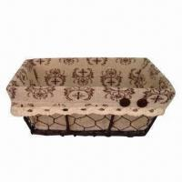Buy cheap Bread Storage Basket with Cotton Lining, Used for Household or Food/Fruit Storage product