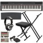 Buy cheap Yamaha P125 88-Key YAMAHA P-125 DIGITAL PIANO - BLACK KEY ESSENTIALS BUNDLE product
