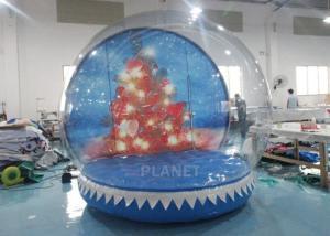 Buy cheap 0.65mm PVC  Inflatable Santa Snow Globe Ball Quadruple Stitching product