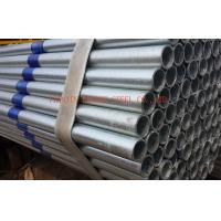 EFW Galvanized Steel Pipes BS1387 ASTM A53 , Thick Wall 0.5mm - 20mm