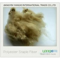 Buy cheap Camel Color Polyester Fiber High Tenacity 38MM Easy To Processing product