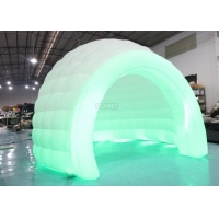 Buy cheap Colorful LED Light Giant Inflatable Igloo Dome Tent With Tunnel Entrance product