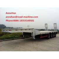 Buy cheap 3AXLES Loading Construction Machines Hydraulic Flatbed Semi Trailer 70 Tons 17m product