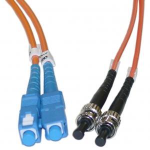 Buy cheap MM Fiber Optic ST to SC 50 / 125 μm Duplex Patch Cord for Gigabit Ethernet product