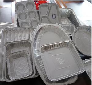 Buy cheap Food Aluminium Foil Container Tray With Lids Aluminium Roasting Pan product