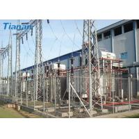 Buy cheap 3 Phase 110kV Industrial Oil Immersed Power Transformer With Corrugated Steel Plate Tank product