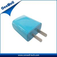 Buy cheap blue 5v 1a wall charger with us plug product