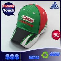 China Embroidery Raised Logo Unisex Baseball Caps For Outdoor Racing 6 Panels on sale