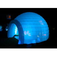 Buy cheap Led Lighting Inflatable Igloo Tent , Oxford Cloth Inflatable Tents For Parties product