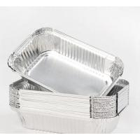 Buy cheap Fastfood Aluminium Cooking Pans , Disposable Foil Pans With Lids Custom Thickness product