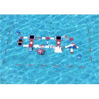 Buy cheap 47mx18m Inflatable Aqua park for 200 People use in the Seaside Resort Color can be Customized from wholesalers