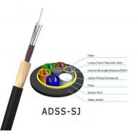 Buy cheap ADSS Optical Fiber Cable All Dielectric Self Supporting Aerial With 100m 200m Span product