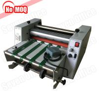 Buy cheap No MOQ automatic feeding a3 hot laminator with foot pedal paper laminating machine with stainless steel roll product