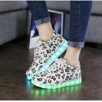 Buy cheap High Elastic LED Light Up Sneakers Fashional Android And ISO App Remote Control Non - Slip product