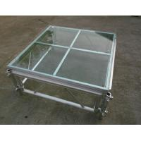 Buy cheap Easy install acrylic / glass adjustable stage platform / plexiglass stage Platform with Aluminum truss from wholesalers
