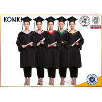 Cheap wholesale graduation gowns and mortar board black gowns from China clothing factory wholesale