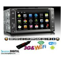 Buy cheap Digital Universal Android Double Din DVD Dual-core 6.2 Inch With 1080P High Resolution product