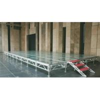 Quality Transparent Glass Aluminium Stage Platform Folding Anti - Skidding With Locking Connection for sale