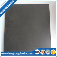 China factory direct price 10mm thick black two sides texture virgin HDPE sheet  from China on sale