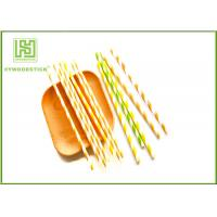 Buy cheap Wedding Decoration Striped Paper Straws For Drinking 197 * 6mm Size product