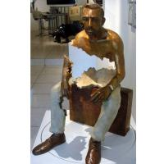 Buy cheap Interior Landscape Design Bronze Statue Sitting Man Sculpture Long Life Time product