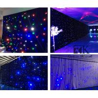 Quality RK fireproof lighting fixture led star effect stage lighting led curtain stage for sale