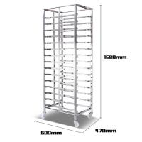 Buy cheap Aluminum Alloy Bakery Bread Oven Baking Tray Cart Trolley Cake Rack Cart For Bakeware product