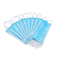 Buy cheap 3 Pleats Latex Free Disposable Protective Face Mask 3 Ply Non Sterile product
