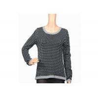 Buy cheap Autumn Winter Warm Thick Womens Knit Sweater Black And White Female Acrylic product