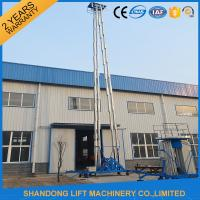 Buy cheap Hydraulic Mobile Telescopic Ladder Aerial Work Platform Lift With 150kgs Loading 19m Height product