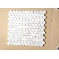 China Hexagonal Honed Stone Mosaic Tile Marble Stone Chip 12X12 Size on sale