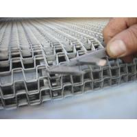 High Grade Stainless Steel Flat Wire Conveyor Belt  Ceramics Use Honeycomb Type