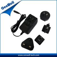 Buy cheap 12v 1a interchangeable uk us eu au plug universal ac/dc adapter product