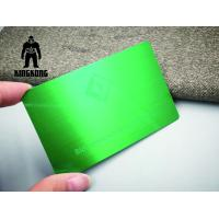 Buy cheap Colorful Anodized Sublimation 304 Steel Metal VIP Business Cards 0.7 / 0.8mm Thickness product